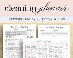 Programa de limpieza mensual para imprimir por GraceByFaith en Etsy