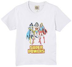 DC Comics - Camiseta de manga corta para niña, color blanco, talla 4 años #camiseta #friki #moda #regalo