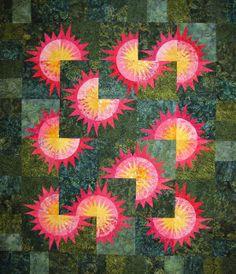 Sunflower Illusions Quilt Kit