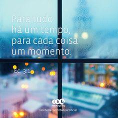 """""""Para tudo há um tempo, para cada coisa um momento."""" - Ec. 3:1"""