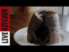 Lava Cake   Σουφλέ σοκολάτας   Moelleux   Live Kitchen - YouTube Lava Cakes, Kitchen Living, Muffin, Pudding, Pie, Breakfast, Desserts, Food, Youtube