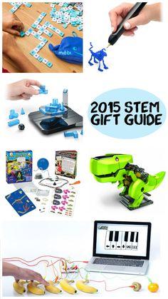 TAME's 2015 Holiday STEM Gift Guide has 3D printing pens, levitating construction sets, banana pianos, solar-powered transformer robots, and more! #STEM #Holiday #Christmas