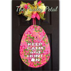 Easter Egg Door Hanger Easter Door Hanger by thepaisleypetalvegas