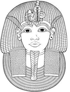 Egypte : Masque funéraire de Toutankhamon