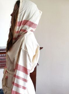 BATHROBE Turkish Cotton Bath,Beach,Eco Friendly. $59.00, via Etsy.