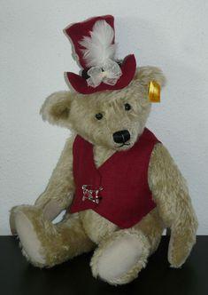 VEST & TOP HAT, shabby, for collectible teddies & dolls #handmade Bears, Shabby, Vest, Teddy Bear, Dolls, Artist, Handmade, Top, Animals