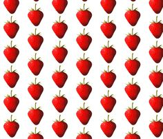 Strawberry fabric by interrobangart on Spoonflower - custom fabric