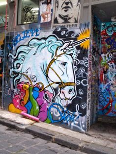 Graffiti Art Wall| Freedom Of Expression| Street Art: A UNICORN in Melbourne, Australia