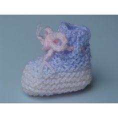 NOUVEAU bébé,brassière-chaussons NAISSANCE écru rubans  laine hypoallergénique