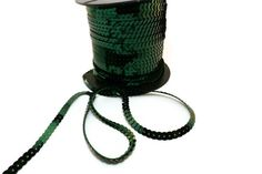 5m of beautiful green sequin trim metallic by frameyourbag on Etsy