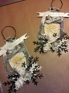 Diane Krause as the Happy Scrapper with a lantern ornament using TH/Ranger and Sizzix products; Dec 2013