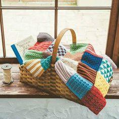 ふんわり編み地になごむ1モチーフ約30分ぽってりと厚みのある素朴な表情を、こつこつと編みためて。|ぽってり編み地がなつかしいアフガン編みのサンプラーの会