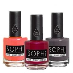 SOPHiNail Polish sent me product. All opinions are my own. SOPHi nail polish is a completely natural product. It is a water-based formula that isodorless and hypoallergenic. SOPHinail polish com…