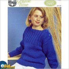 Ladies chunky jumper / sweater knitting pattern womens Sirdar patterns 4488 on eBid United Kingdom