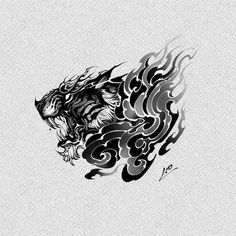 Tattoo Design Drawings, Tattoo Sketches, Tattoo Designs Men, Leg Tattoos, Cool Tattoos, Ink Master, Thai Art, Irezumi, White Art