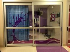 Custom Made Color Film Installation, Designed and Installed by Spokane Sunscreen for Local Children's Hospital