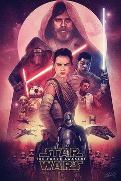 El Condensador de Fluzo, Genial póster de Star Wars Episodio 7 El despertar...