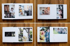 Beautiful, Clean, Modern Album Design Templates for Professional Wedding and Portrait Photographers - The Ultimate Album Builder for Photoshop and InDesign - Design Aglow Wedding Photo Books, Wedding Photo Albums, Wedding Book, Wedding Album Layout, Wedding Album Design, Family Photo Album, Portfolio, Textured Background, Book Design