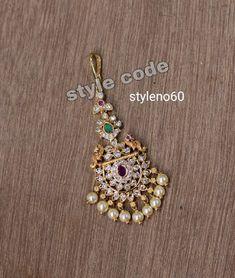 Tika Jewelry, Headpiece Jewelry, Jewelry Design Earrings, Indian Jewelry, Gold Jewelry, Beaded Jewelry, Gold Bangles Design, Gold Jewellery Design, Tikka Designs