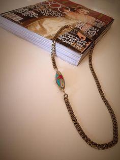 Tibet Stone Necklace,Bohemian Necklace,Boho Chic Necklace,Statement Necklace,Chunky Necklace,Chunky Chain,Street Style,Street Fashion
