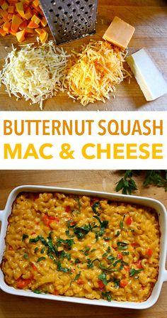 Butternut Squash Mac and Cheese Recipe   The Beachbody Blog Vegetarian Casserole, Vegetarian Recipes, Cooking Recipes, Healthy Recipes, Cooking Kale, Cooking Pork, Cheese Recipes, Clean Eating, Healthy Eating