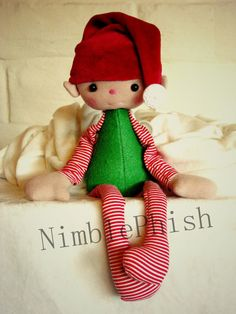 SALE TidBit the Sitting Elf PDF Sewing Pattern by NimblePhish, $5.00
