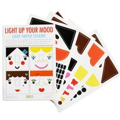 Light Switch Stickers Girls.  Such a great idea to light up a girl's bedroom!