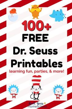 Seuss Printables & Activities for Fantastic Fun Over FREE Dr. Seuss printables & activities to enjoy with your kids! Includes free printables for parties, preschool, elementary, & older kids plus. Dr. Seuss, Dr Seuss Week, Dr Suess Books, Dr Seuss Printables, Dr Seuss Crafts, Kids Crafts, Dr Seuss Birthday Party, Book Activities, Dr Seuss Activities Preschool