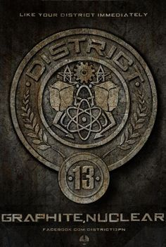 This is District 13 symbol or medal which is for necular power and graphite.