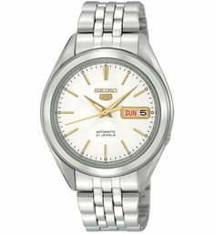 Seiko Men's SNKL17 Stainless Steel Analog with Silver Dial Watch Seiko. Save 60 Off!. $59.81. Scratch resistant hardlex. Automatic Self Wind movement. Water-resistant to 99 feet (30 M). Case diameter: 38 mm. Stainless steel case