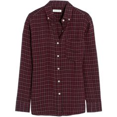 Étoile Isabel Marant Prune plaid flannel shirt (1.180 BRL) ❤ liked on Polyvore featuring tops, shirts, blouses, red, plaid flannel shirt, purple flannel shirt, shirts & tops, plaid top and checkered shirt