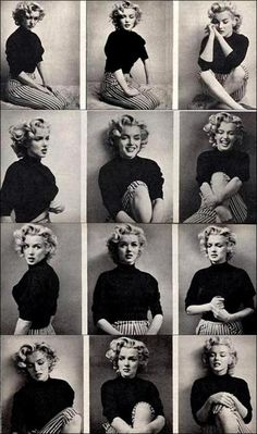 Contact sheet for Marilyn Monroe