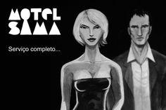 divulgação motel sama no canal brasil  Eduardo filipe Sama e Luísa Sequeira