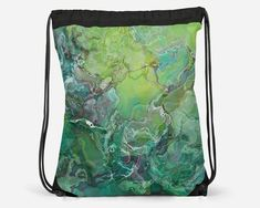 Drawstring School Book Bag with Abstract Art, Modern Lined Cinch Sack, Gym Bag, Contemporary Lightweight Travel Tote, Speculation Cheap School Bags, Everyday Items, Travel Tote, Printed Bags, Drawstring Backpack, Digital Prints, Gym Bag, Abstract Art
