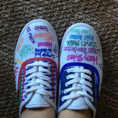 Made one direction shoes :)