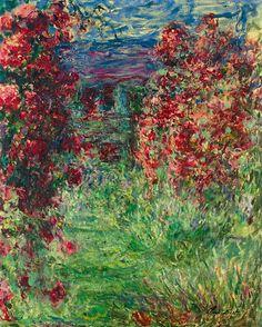 bofransson: Claude Monet (1840-1926) La maison dans les roses 1925