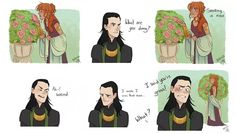 Awwww! Loki and Sigyn... She should be in the movies