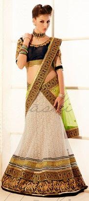129914: #Monochrome #Lehenga #Bridalwear