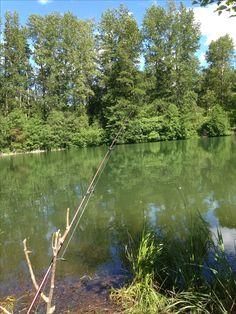 Fishing at Easton Ponds off of I-90 near Easton Wa