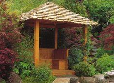 Build a Japanese Tea House - roof Japanese Tea House, Japanese Garden Design, Japanese Gardens, Japanese Style, Garden Buildings, Garden Structures, Outdoor Rooms, Outdoor Gardens, Pool Houses