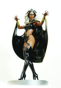 "Bowen Designs Storm Painted Statue by Bowen Designs. $229.99. Strictly limited. Over 12"" tall. Sculpted by Mike Cusanelli. A Bowen designs sculpt. Display ready. From the Manufacturer                A Bowen Designs Sculpt. With her ability to control the weather, Ororo Munroe — code-named Storm — has been one of the X-Men's most powerful members since her debut in Giant-Size X-Men #1. This dynamic statue, sculpted by Mike Cusanelli, features Storm in one of her variant ..."