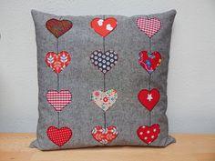 Kissenbezüge - Kissenbezug Herz - ein Designerstück von NA-Elli bei DaWanda