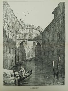 A Beautifully Detailed, Original Plan of the Bridge of Sighs in Venice, Italy. From the American Architect and Building News, June This picture is extremely hard to f Santa Lucia, Venice Travel, Italy Travel, Venice Attractions, Sigh In, Italy Tours, House Drawing, Architecture Drawings, Venice Italy