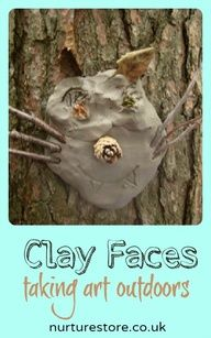 Clay sculptures at the Just So festival clay faces :: forest school craft :: green man craft :: outdoor art project Outdoor Education, Outdoor Learning, Forest School Activities, Nature Activities, Outdoor Activities, The Human Body, Outdoor Art, Outdoor Play, Outdoor Crafts