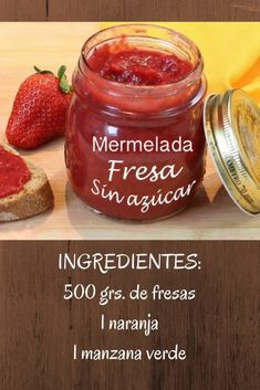 mermelada de fresa sin azucar Easy Healthy Recipes, Raw Food Recipes, Sweet Recipes, High Protein Vegetables, Good Food, Yummy Food, Jam And Jelly, Fruit Jam, Sweet Sauce