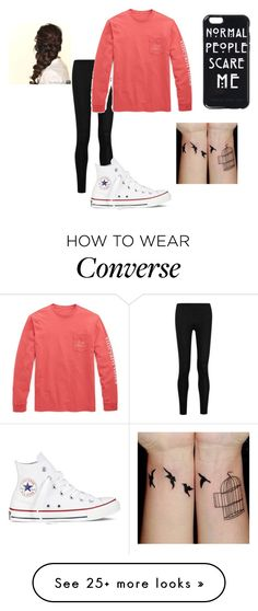 """""""Untitled #140"""" by lyfsgud2002 on Polyvore featuring Donna Karan, Vineyard Vines, Converse and Disney"""