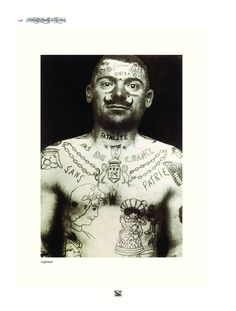 Picture from a legionair, it's part of the Encyclopedia for the art and history of tattooing by Henk Schiffmacher. Off course for sale at our webshop: http://www.amsterdamtattoomuseum.com/shop/?action=search