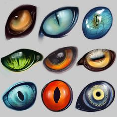 A bunch of dragon eyes for refrence.Random types of animal eyes.Love all these different creature eyes.Oh my god this is sooooo cute I actually have a hard time looking at it! So I believe in fairies, the myths, dragons. Animal Drawings, Art Drawings, Drawing Animals, Wolf Drawings, Drawing Techniques, Creature Design, Fantasy Creatures, Mythical Creatures Art, Art Tutorials