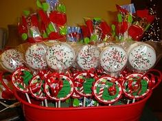 Christmas Ideas -  Oreo pops and goodie bags
