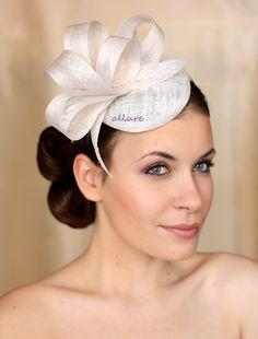 Bridal Hair Fascinator Bridal Hat Wedding Hair by klaxonek on Etsy